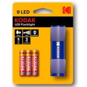 Linterna kodak aluminio 9led 46lumens varios - kodak