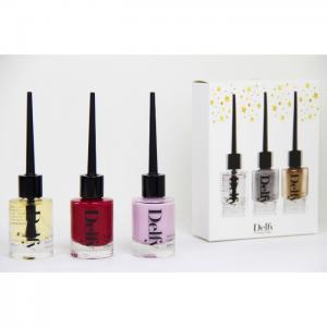 3 Nail- Stars Box base, amore mio, cosmo - Delfy Cosmetics