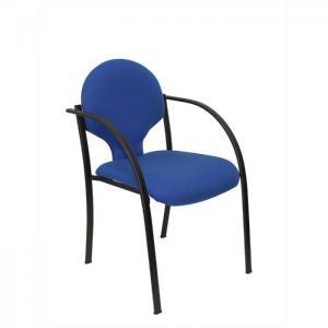 Pack 2 sillas hellin chasis negro bali azul - piqueras y crespo