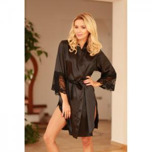 Marbella dressing-gown black - kalimo