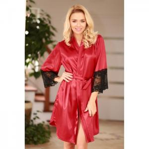 Marbella dressing-gown claret - kalimo