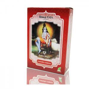 Henna radhe brown coppery powder - radhe shyam