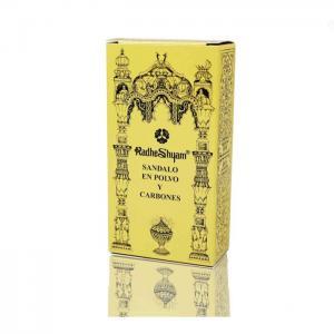 Incense sandalwood powder and coals - radhe shyam