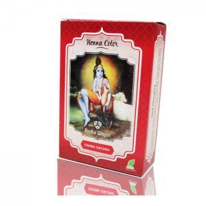 Henna radhe dark mahogany powder - radhe shyam