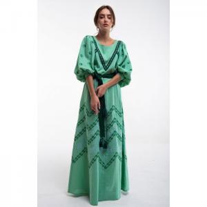 Lelya green dress - 2kolyory