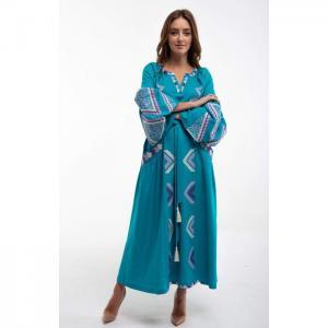 Vuriy dress turquoise - 2kolyory