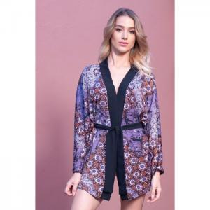 Kimono or jacket japanese style purple - stella-b