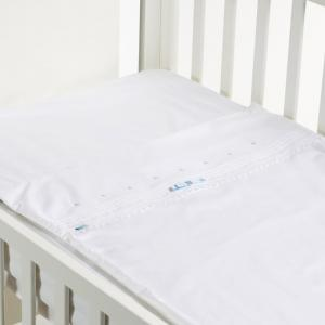 Safety baby bed - blue bow - 50x80 cm  - b-mum