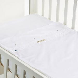 Safety baby bed - beige bow - 50x80 cm  - b-mum
