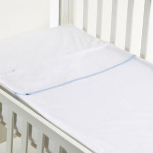 Safety baby bed - smooth blue - 50x80 cm  - b-mum