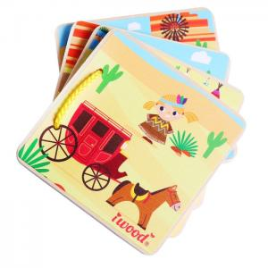 Picture Book WOOD FOR BABY: THE COWBOY WEST - JUGUETES Y PELUCHES NEO