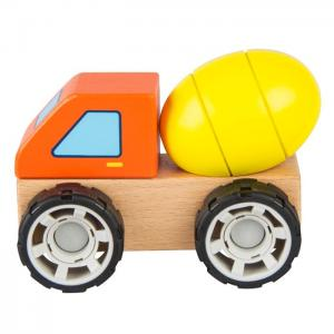 Wooden vehicle for mounting and dismounting: HORMIGONERA - JUGUETES Y PELUCHES NEO