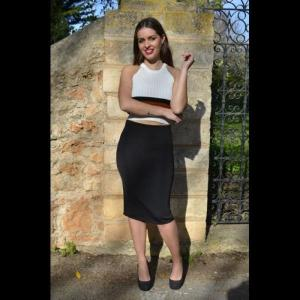 Pipe skirt with zipper - odissea