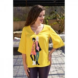 Yellow blouse, wide silhouette - odissea