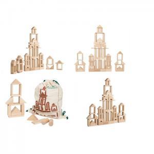 """Constructor """"castle"""" (58 pcs) (beech) - tm goydalka"""