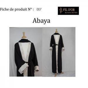 Abaya - 7 - fil d'or