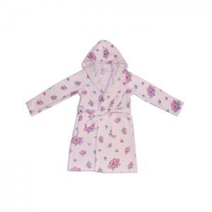 Kids bathrobe flowers - home lab