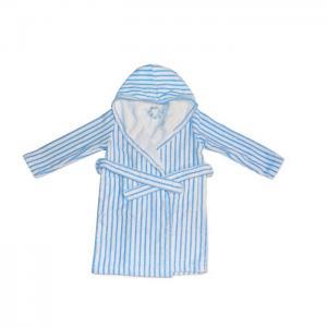 Kids bathrobe stripes blue - home lab