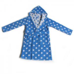 Kids bathrobe blue stars - home lab