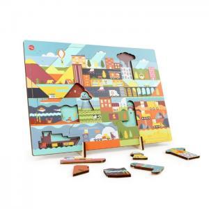 Kars en boom puzzle 'day' - ikonic