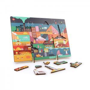 Kars en boom puzzle 'night' - ikonic