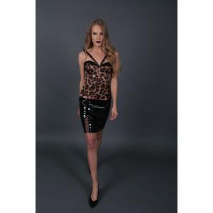 Vernis leather skirt - martha fadel