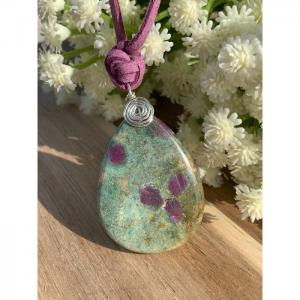Ruby Stone Necklace - Blombary Design