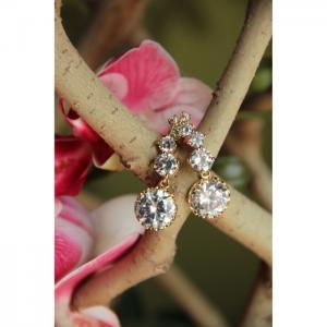 Zirconia Crystal Earrings  - Blombary Design