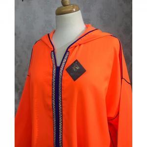 Néon orange jellaba -  soundouss haute couture