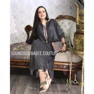 Zébra jellaba -  soundouss haute couture