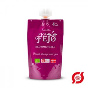 Organic baby smoothie with plum and apple - fra fejø
