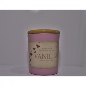 Maple candles pink jar  vanilla - maple candles
