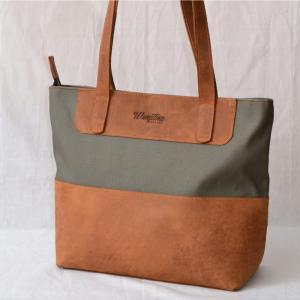 Leather & Canvasbag  WL01 - Wanjiline Leather