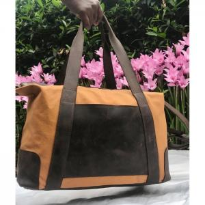Canvasbag Travelbag - Wanjiline Leather
